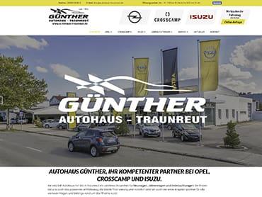 Webdesign für das Autohaus Günther